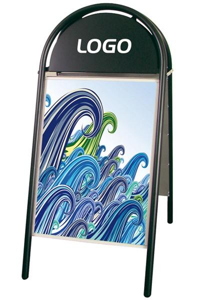 Kundenstopper DIN A2 Expo Gotik 25mm - Schwarz